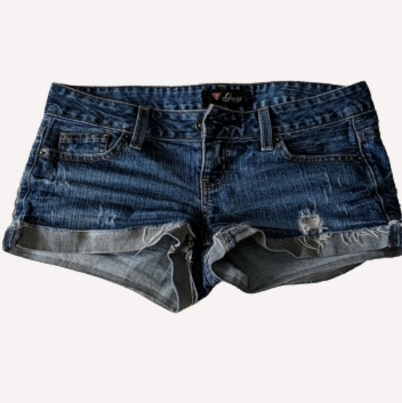 GUESS Denim Short Shorts, size 26
